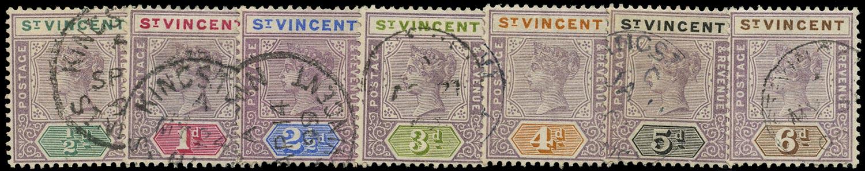 ST VINCENT 1899  SG67/73 Used QV short set of 7 to 6d