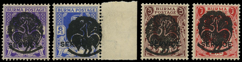 BURMA JAPANESE OCC 1942  SGJ7/9, 10 Mint