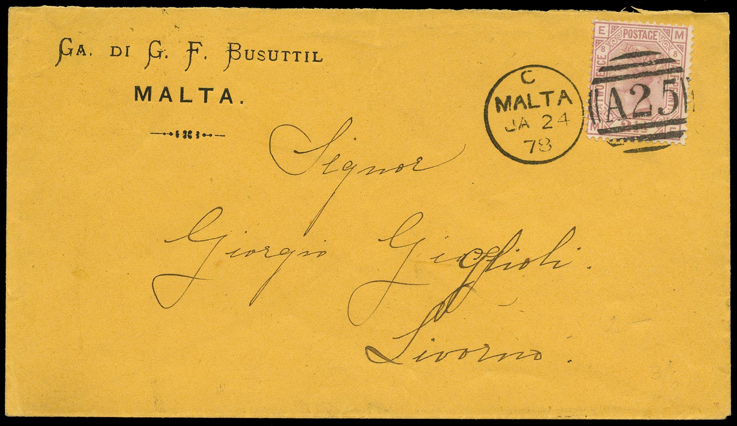 GB 1878  SG141 Pl.8 Cover