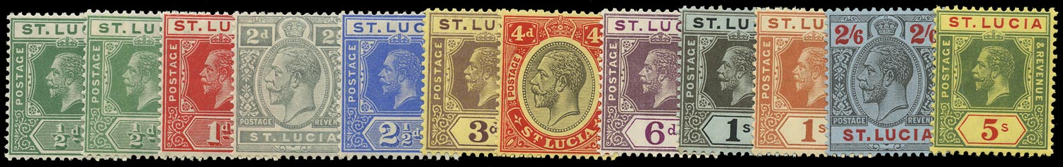 ST LUCIA 1912  SG78/88 Mint KGV set of 12 to 5s watermark MCA