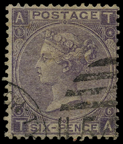 GB 1867  SG97c Pl.6 Used