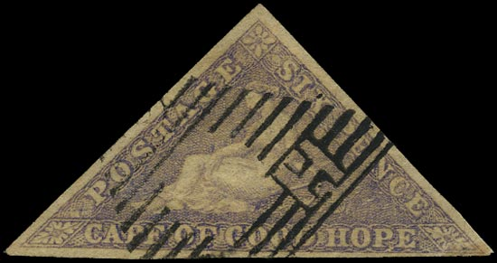 CAPE OF GOOD HOPE 1855  SG7b Used 6d deep rose-lilac on white paper Perkins Bacon printing