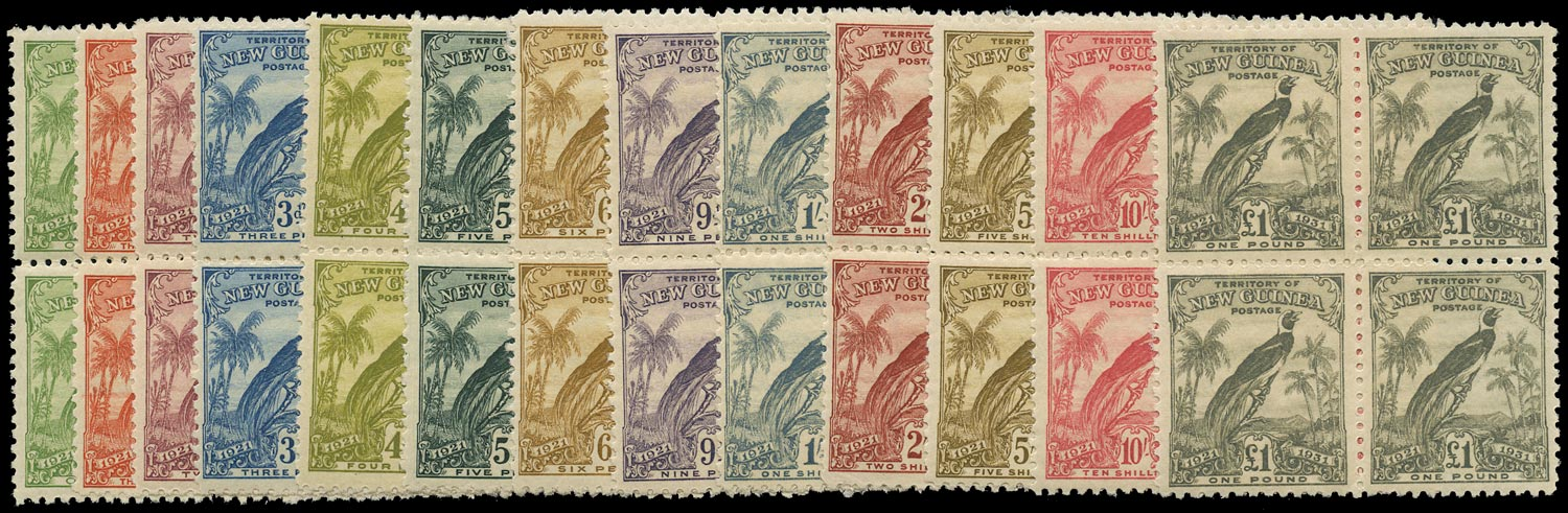 NEW GUINEA 1931  SG150/62 Mint Bird of Paradise with dates set of 13 to £1