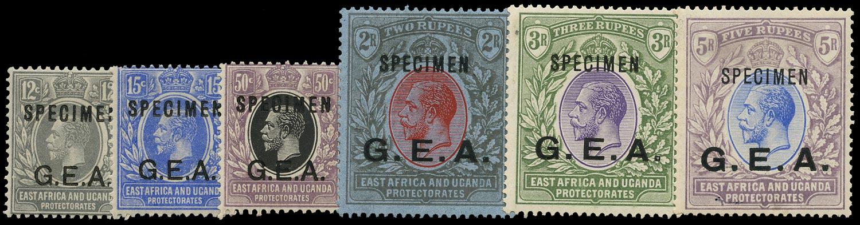 TANGANYIKA 1921  SG63s/8s Specimen