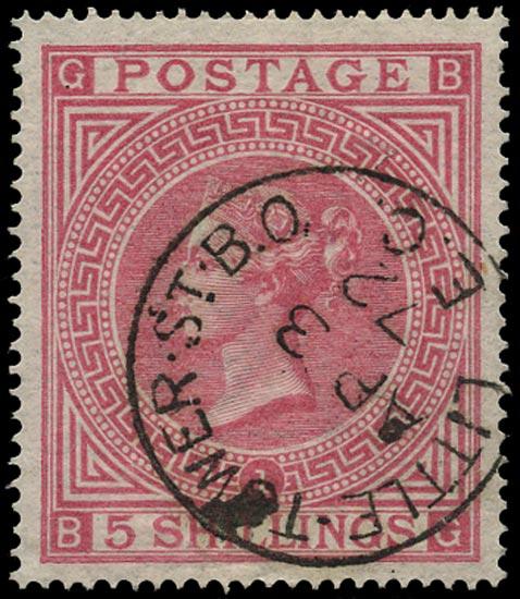 GB 1867  SG126 Pl.1 Used