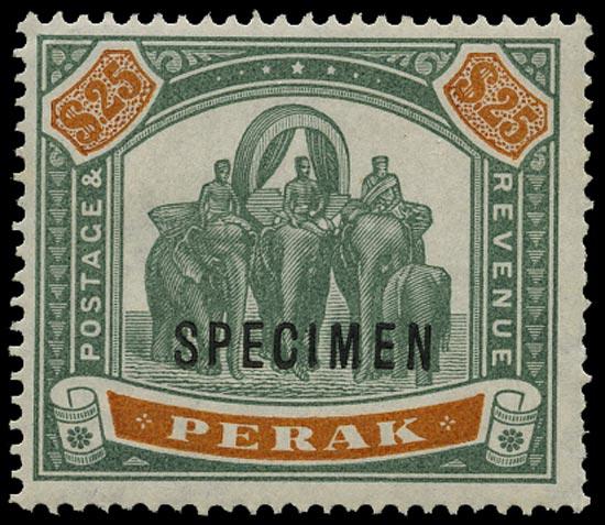 MALAYA - PERAK 1895  SG80s Mint