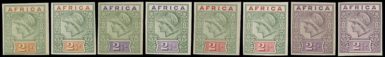 BRITISH COMMONWEALTH 1902 Essay De La Rue Africa keyplate Trials