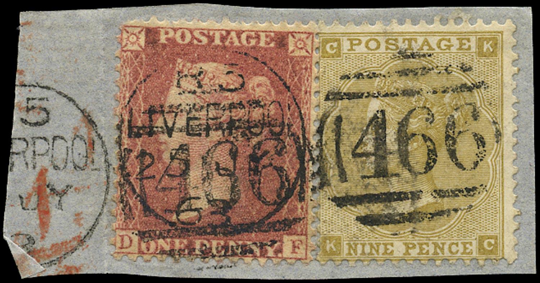 GB 1862  SG40,87 Pl.2 Used