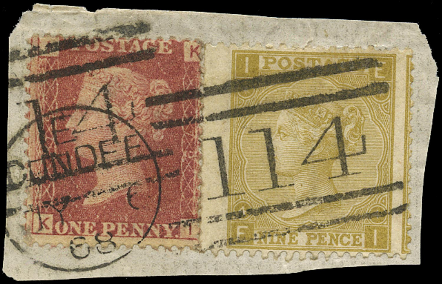 GB 1867  SG43,110 Pl.4 Used