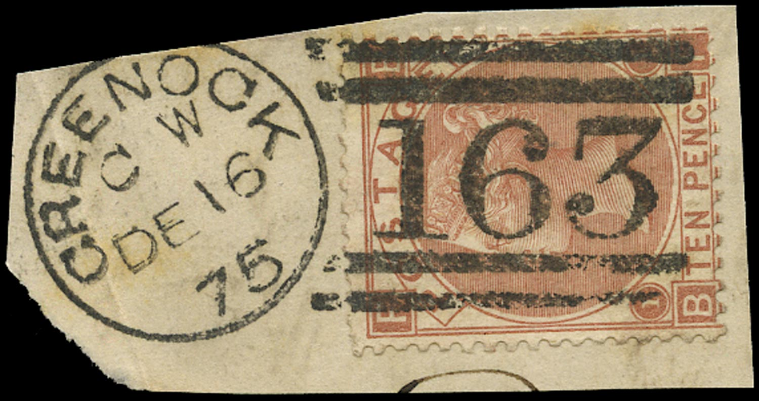GB 1867  SG112 Pl.1 Used