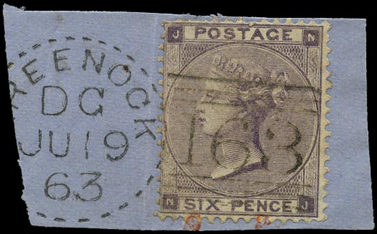 GB 1862  SG84 Pl.3 Used