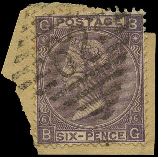 GB 1867  SG104 Pl.6 Used