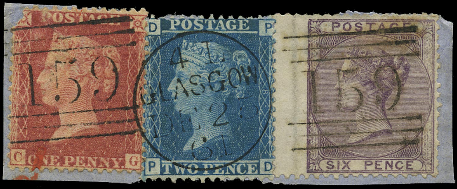 GB 1856  SG40,45,68 Pl.3 Used