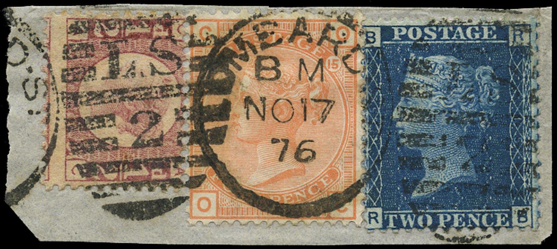 GB 1876  SG46,48,152 Used