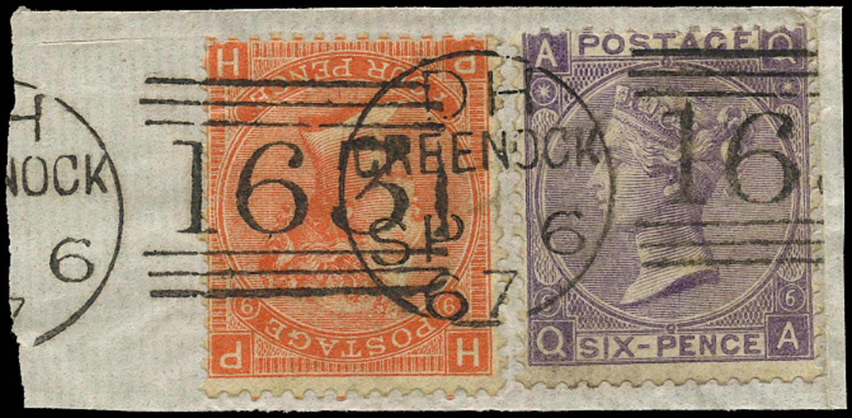GB 1867  SG94,97 Used