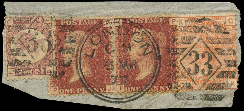 GB 1877  SG43,48,152 Used