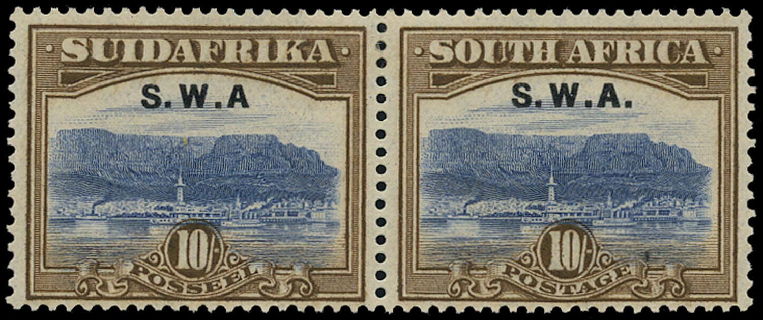 SOUTH WEST AFRICA 1927  SG67a Mint 10s Cape Town and Table Bay variety No stop after A