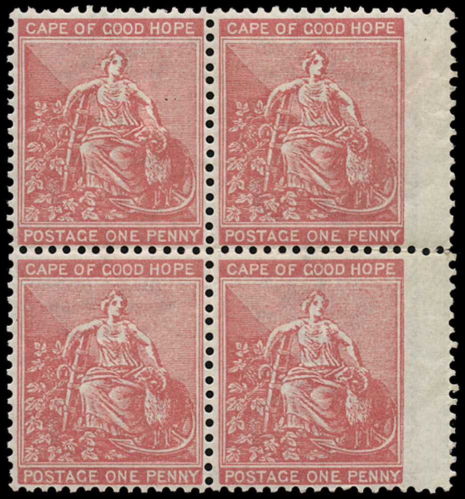 CAPE OF GOOD HOPE 1871  SG29 Mint unmounted 1d carmine-red watermark CC