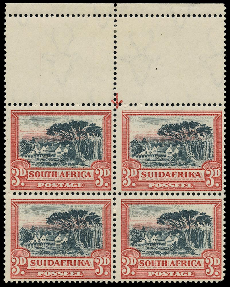 SOUTH AFRICA 1930  SG45 Mint 3d black and red watermark upright