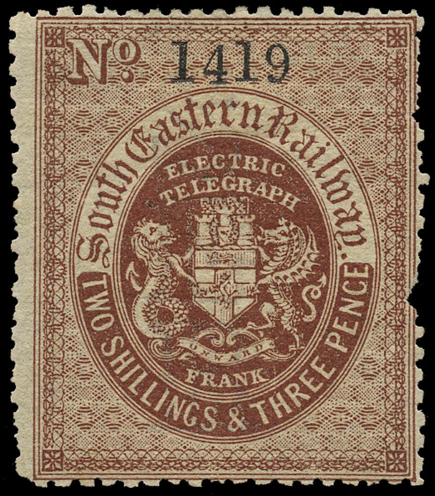 GB 1860 Telegraph - South Eastern Railways
