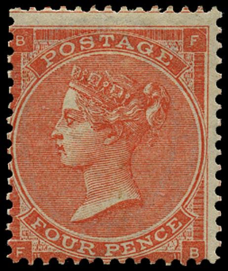 GB 1963  SG81 Pl.4 Mint