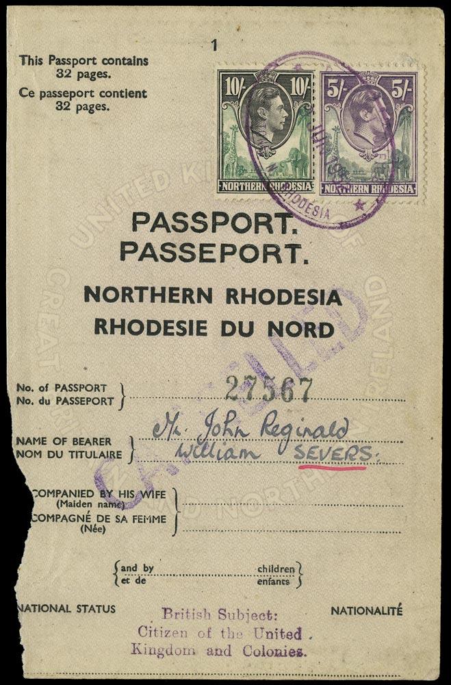NORTHERN RHODESIA 1938  SG43,44 Revenue