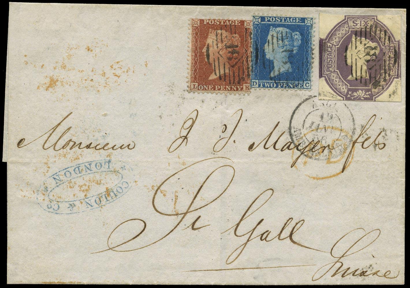 GB 1856  SG29var,34,59 Cover