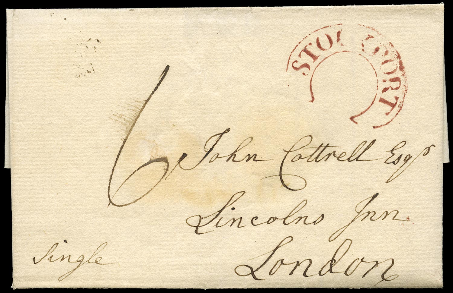 GB 1794 Pre-Stamp - Stockport horseshoe CH742