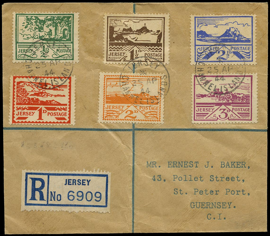 GB 1944  SG3/8 Cover Jersey