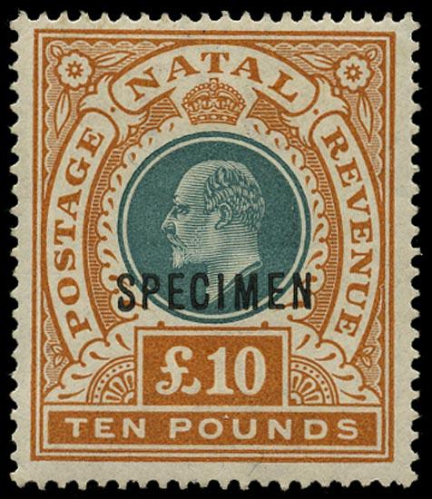 NATAL 1902  SG145as Specimen