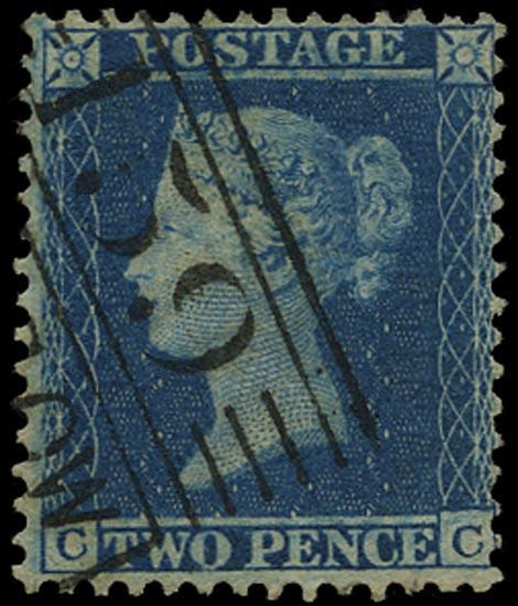 GB 1855  SG23a Pl.5 Used Glasgow