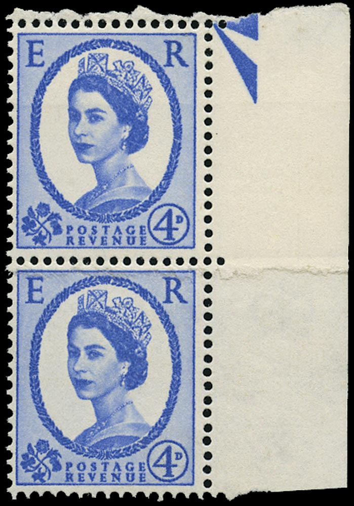 GB 1965  SG576a var Mint - Vertical pair with paper join