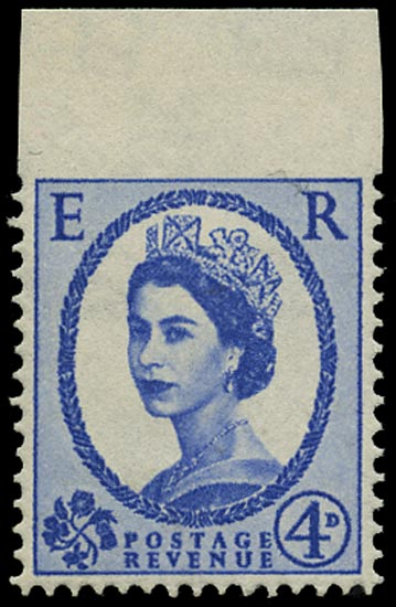 GB 1965  SG576a var Mint - imperf to top margin variety