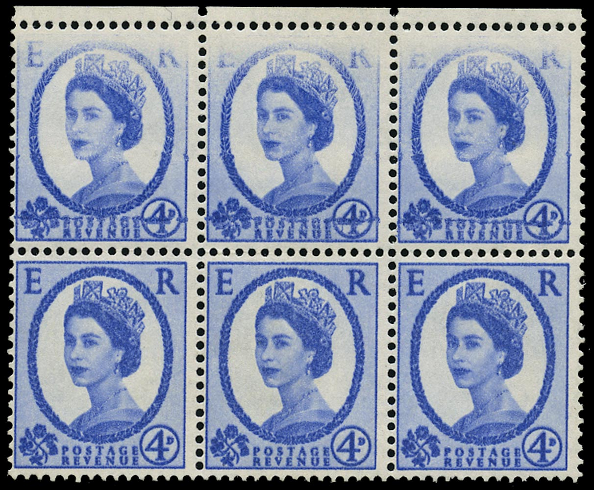 GB 1965  SG576a var Mint - double impression and dry print