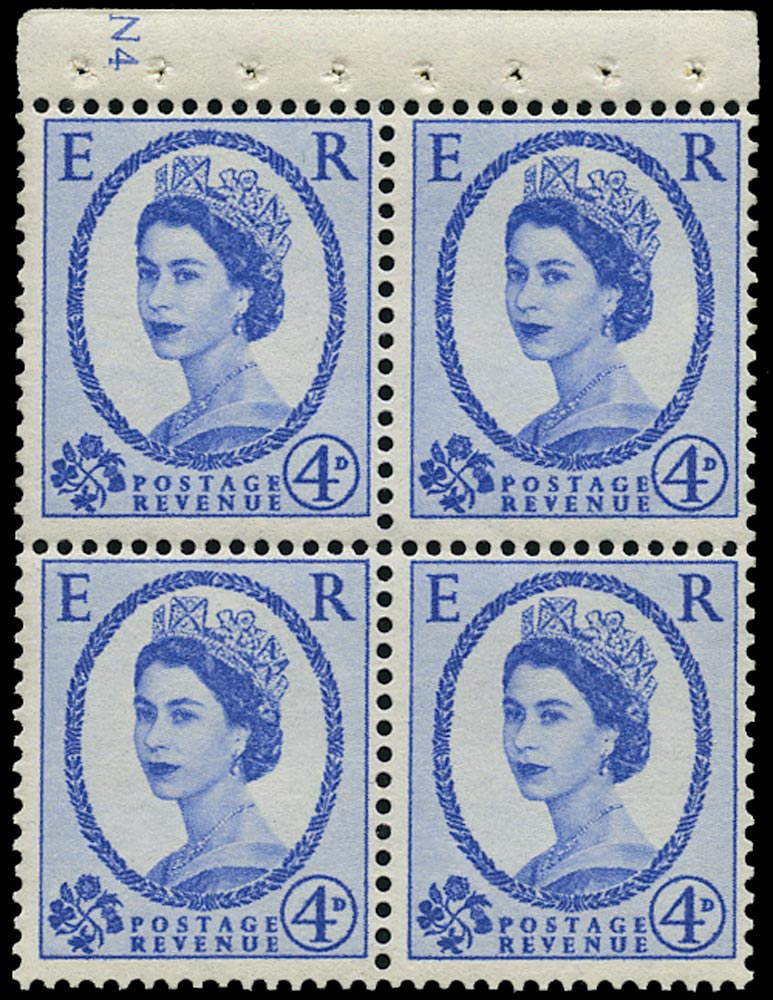 GB 1965  SG576am Booklet pane - Cyl. N4 (Wmk. Crowns to right)