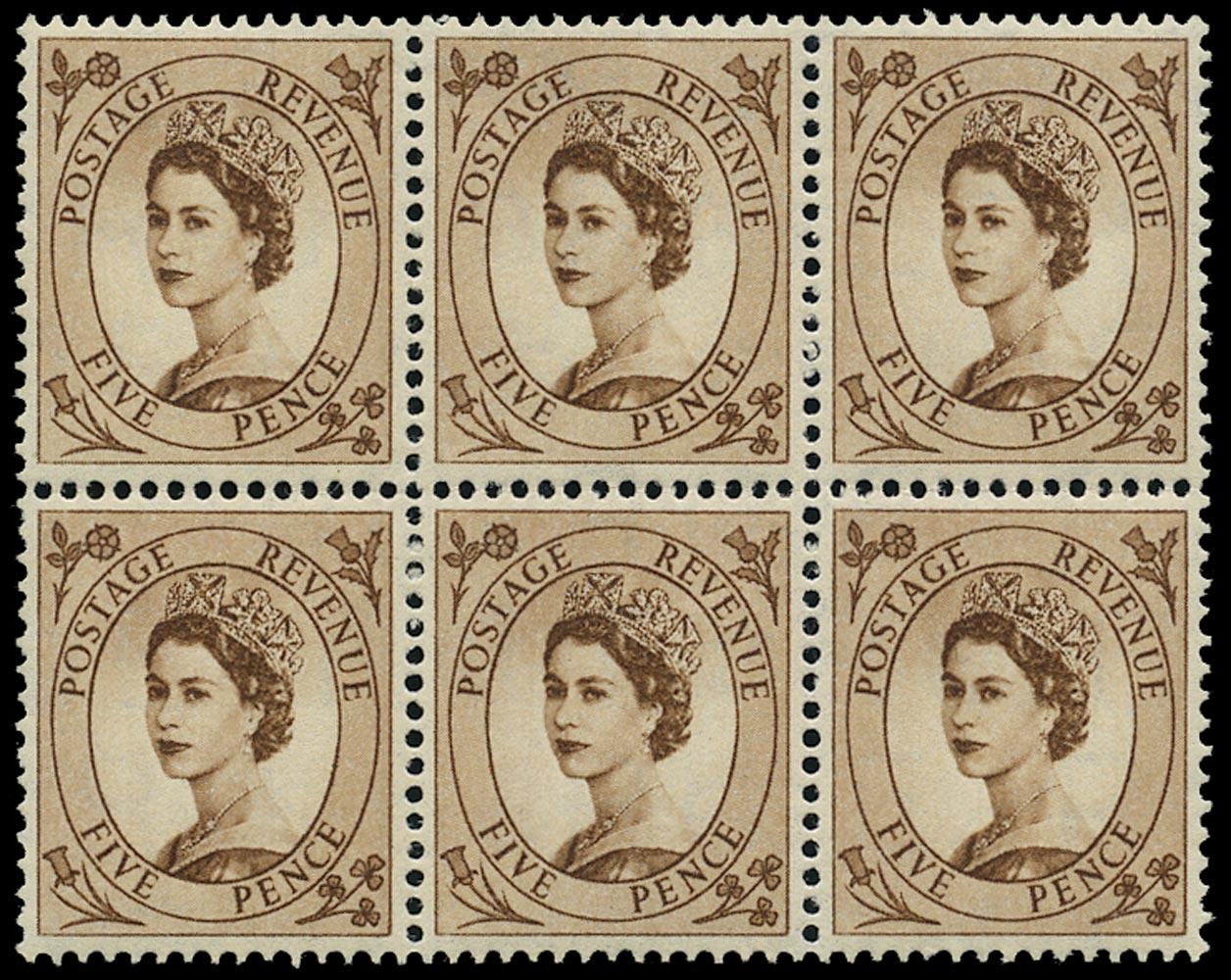 GB 1953  SG522var Mint - 'Spot on E of POSTAGE' variety