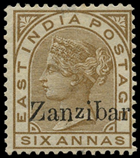 ZANZIBAR 1895  SG13n Mint