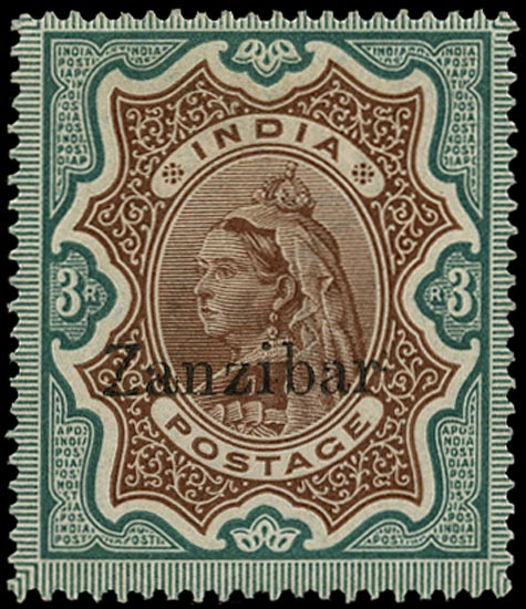 ZANZIBAR 1895  SG20A Mint