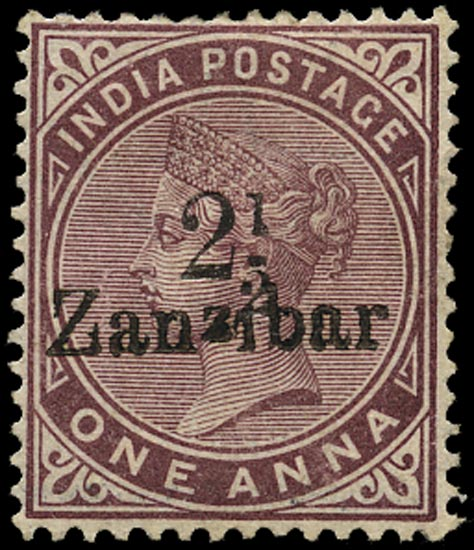 ZANZIBAR 1895  SG23z(D) Mint