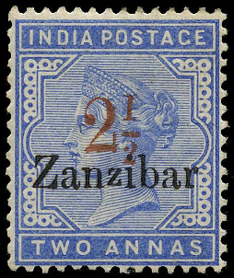 ZANZIBAR 1895  SG26D Mint