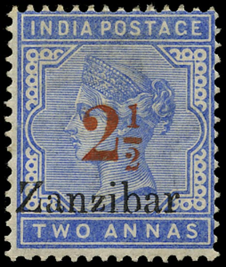 ZANZIBAR 1895  SG27D Mint