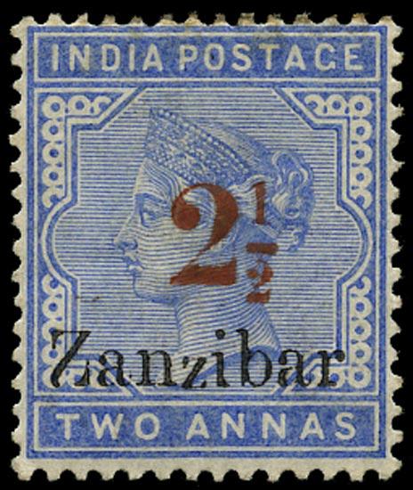 ZANZIBAR 1895  SG27n(D) Mint