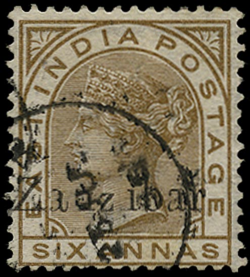 ZANZIBAR 1895  SG13Dvar Used