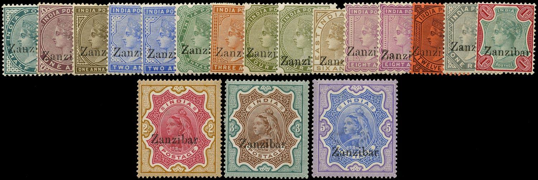 ZANZIBAR 1895  SG3/21 Mint