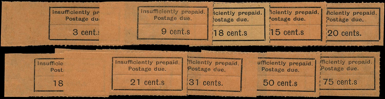 ZANZIBAR 1926  SGD3a/17a Postage Due