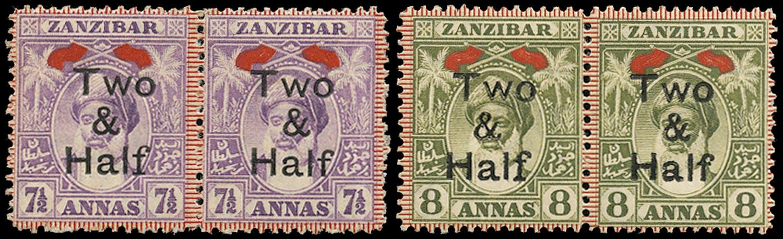 ZANZIBAR 1904  SG208/b, 209/b Mint