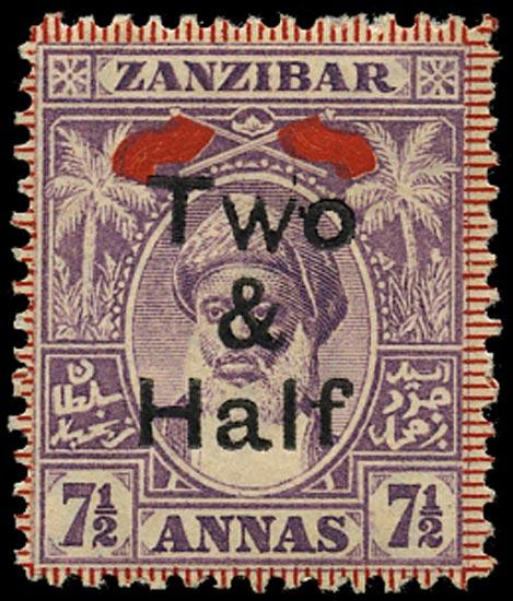 ZANZIBAR 1904  SG208a Mint