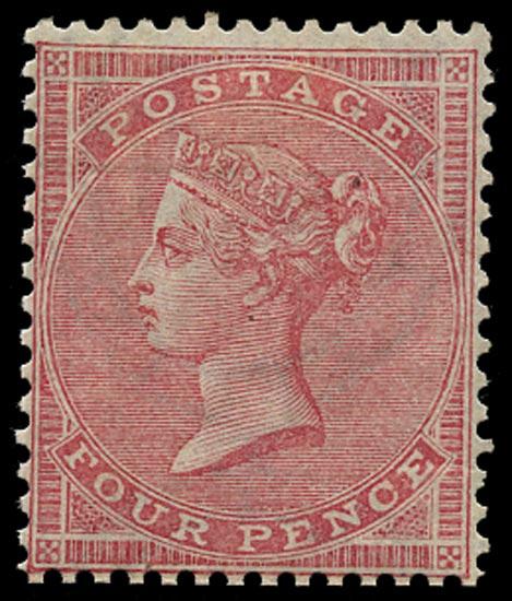 GB 1857  SG66a Mint unused o.g. example