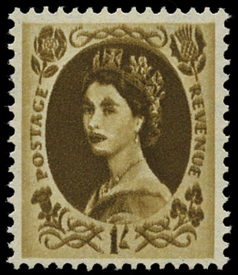 GB 1958  SG584var Mint - Double impression