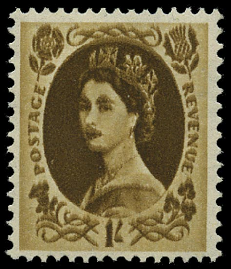 GB 1958  SG584var Mint - Double impression